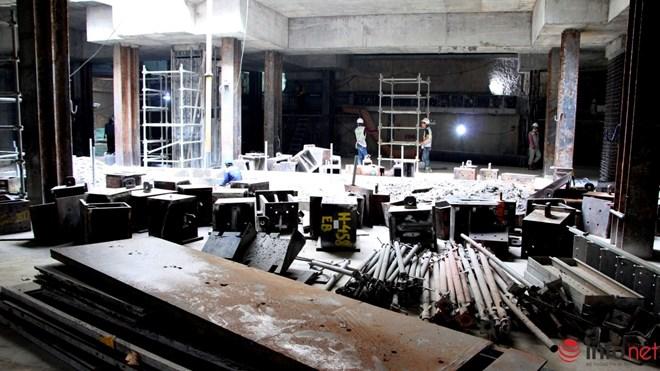 Cận cảnh đại công trường nhà ga metro dưới lòng đất - 11