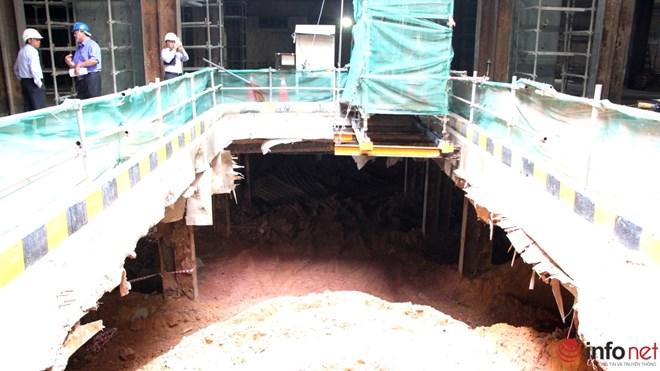 Cận cảnh đại công trường nhà ga metro dưới lòng đất - 12