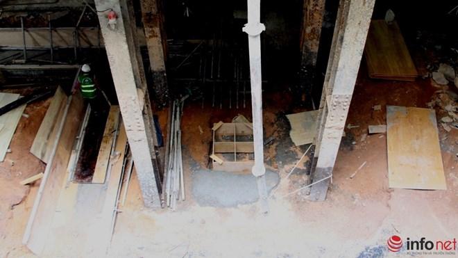 Cận cảnh đại công trường nhà ga metro dưới lòng đất - 13