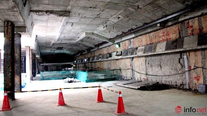Cận cảnh đại công trường nhà ga metro dưới lòng đất - 4