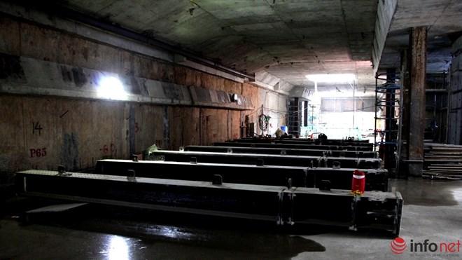 Cận cảnh đại công trường nhà ga metro dưới lòng đất - 7