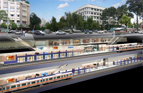 Cận cảnh đại công trường nhà ga metro dưới lòng đất - 18