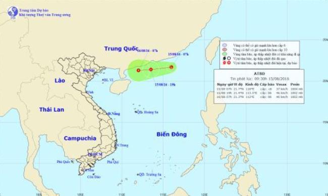 Áp thấp có khả năng thành bão đang hướng vào nước ta - 1
