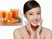Làm đẹp - Tự chế nước cà rốt và gừng giúp làn da sáng mịn