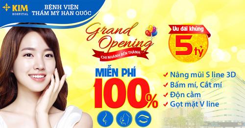 Miễn phí 100% dịch vụ tại Bệnh viện Thẩm mỹ Hàn Quốc chi nhánh Bến Thành - 1