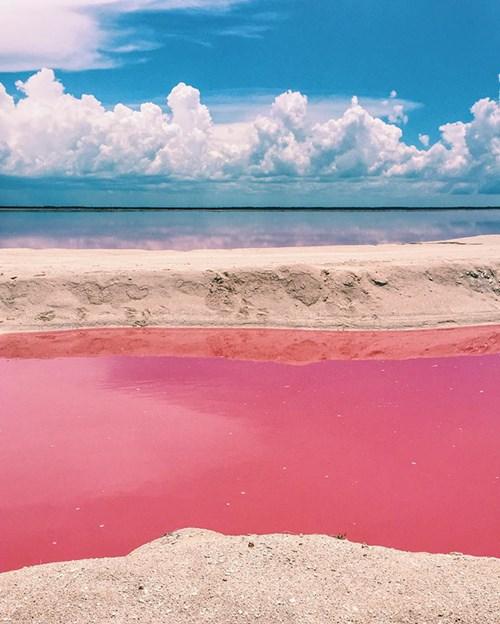 """Vẻ đẹp siêu thực của hồ nước hồng có """"1-0-2"""" ở Mexico - 2"""