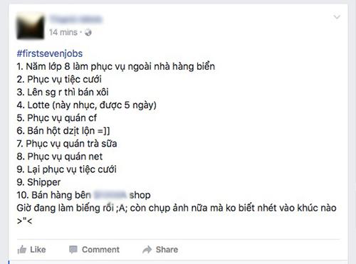 """Facebooker Việt """"phát sốt"""" với trào lưu """"7 công việc đầu đời"""" - 1"""