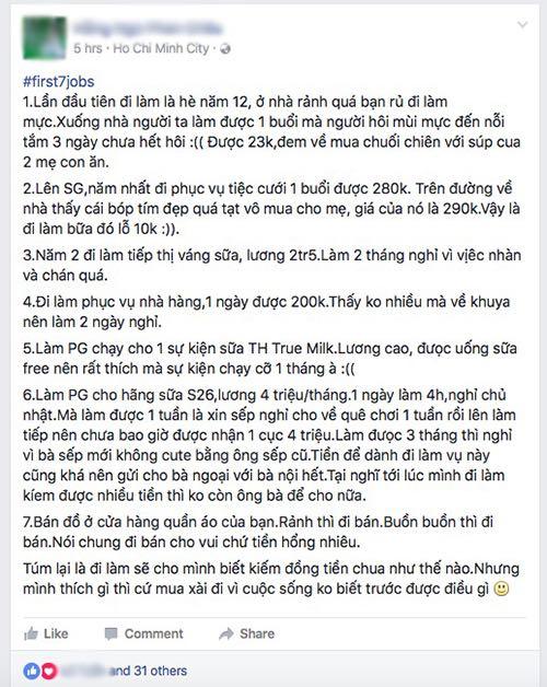 """Facebooker Việt """"phát sốt"""" với trào lưu """"7 công việc đầu đời"""" - 2"""
