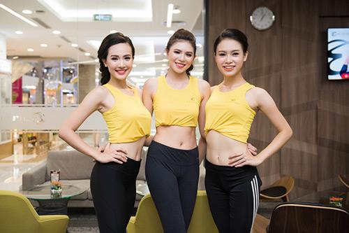 Hoa hậu VN: Người đẹp khoe dáng nóng bỏng ở phòng tập - 8