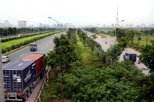 Chi 53 tỷ cắt cỏ tỉa cây, đại lộ Thăng Long vẫn như rừng - 14