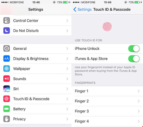 Sửa lỗi Touch ID trên iPhone không hoạt động - 1