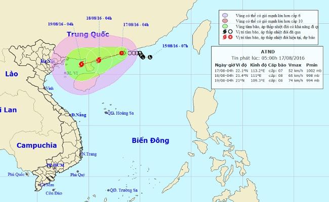"""Tin mới nhất về áp thấp nhiệt đới """"kép"""" trên Biển Đông - 1"""