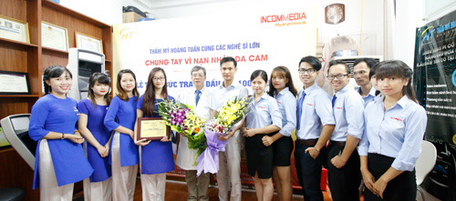 Thẩm mỹ Hoàng Tuấn cùng nghệ sỹ chung tay vì nạn nhân da cam - 3