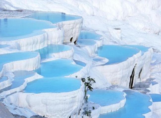 Bể nước nhiệt Pamukkale, Thổ Nhĩ Kỳ.