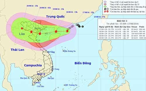 Áp thấp nhiệt đới đã mạnh lên thành bão số 3 - 1