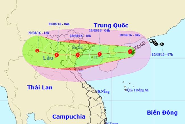 Bão Thần Sét giật cấp 14 sắp đổ bộ Quảng Ninh - Nghệ An - 1