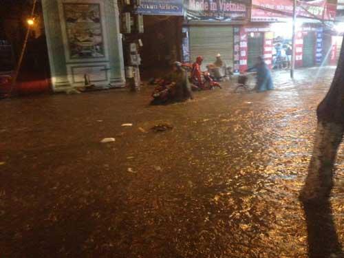 Hà Nội: Mưa dữ dội, ngập lụt, cây đổ vì bão Thần Sét - 18