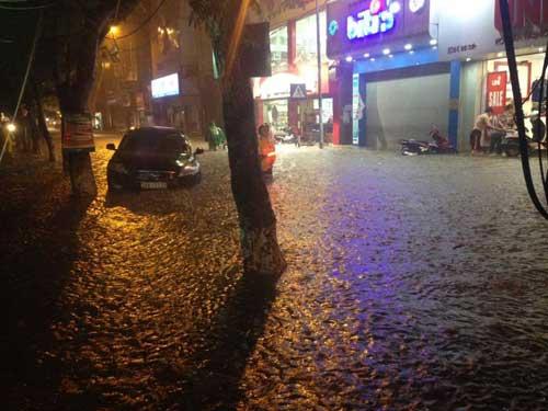 Hà Nội: Mưa dữ dội, ngập lụt, cây đổ vì bão Thần Sét - 19