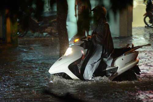 Hà Nội: Mưa dữ dội, ngập lụt, cây đổ vì bão Thần Sét - 11