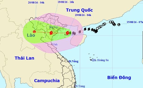 Trưa nay, bão Thần Sét giật cấp 13 đổ bộ Hải Phòng-Ninh Bình - 1