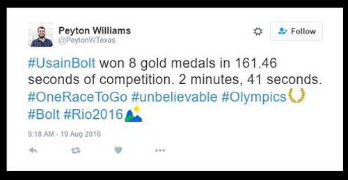 """161 giây lấy 8 HCV Olympic: """"Người ngoài hành tinh"""" U.Bolt - 1"""