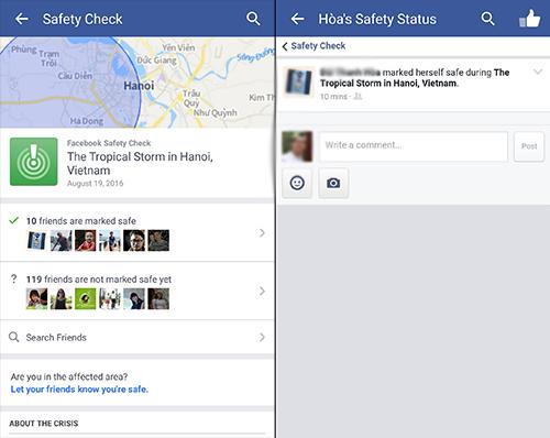 """Facebook kích hoạt tính năng """"Bạn có an toàn?"""" sau bão Thần Sét - 1"""