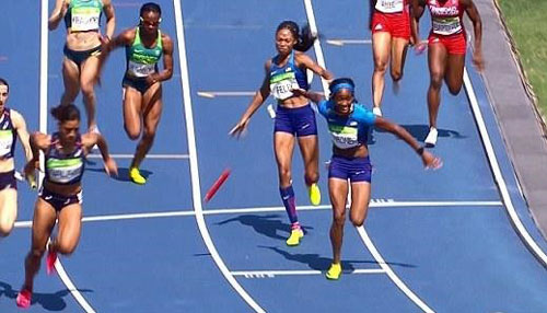 Bị loại 4x100m, đội điền kinh Trung Quốc kêu oan - 2