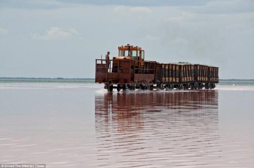 Hồ nước chuyển màu hồng bí ẩn ở Siberia - 8