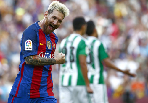 Tỏa sáng trận ra quân, Messi gửi chiến thư đến Ronaldo - 1