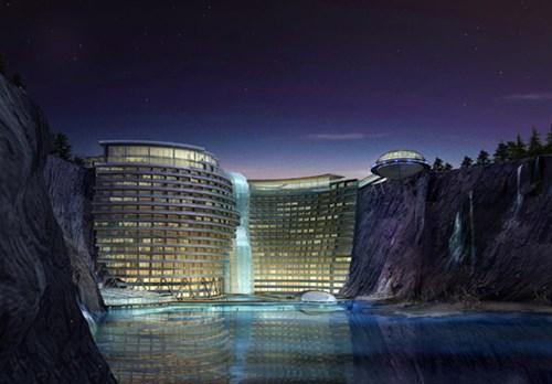 Khách sạn nửa tỷ USD dưới hố sâu 100m ở Trung Quốc - 5