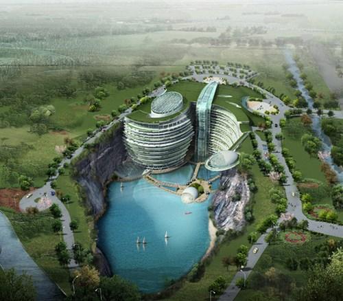 Khách sạn nửa tỷ USD dưới hố sâu 100m ở Trung Quốc - 6