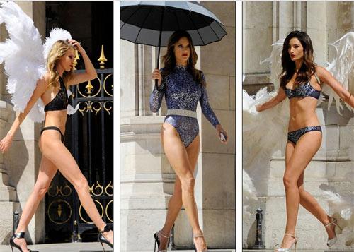 4 siêu mẫu mặc nội y, đeo cánh khuấy đảo nhà hát Paris - 5
