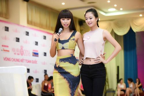 Hà Anh đọ dáng dàn thí sinh Hoa hậu Việt Nam 2016 - 9