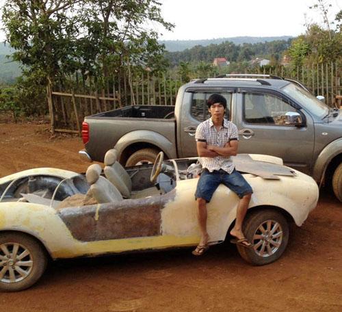 """Thợ Việt tự chế """"siêu xe"""" Shelby Cobra ở Đắk Nông - 10"""