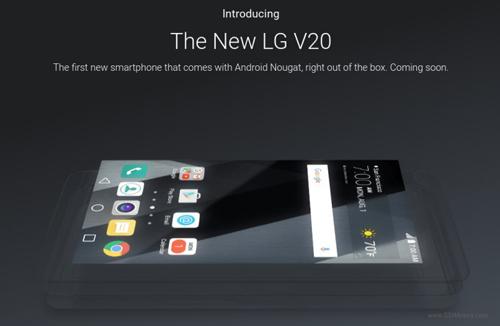 Xác nhận LG V20 chạy Android 7.0 Nougat khi ra mắt - 1