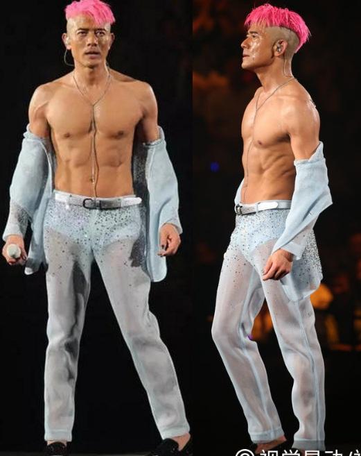 Những màn khoe thân kỳ dị trên sân khấu của sao Hoa - 1