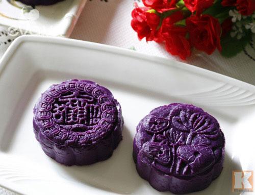 Bánh Trung thu khoai lang tím vừa ngon lại đẹp mắt - 11