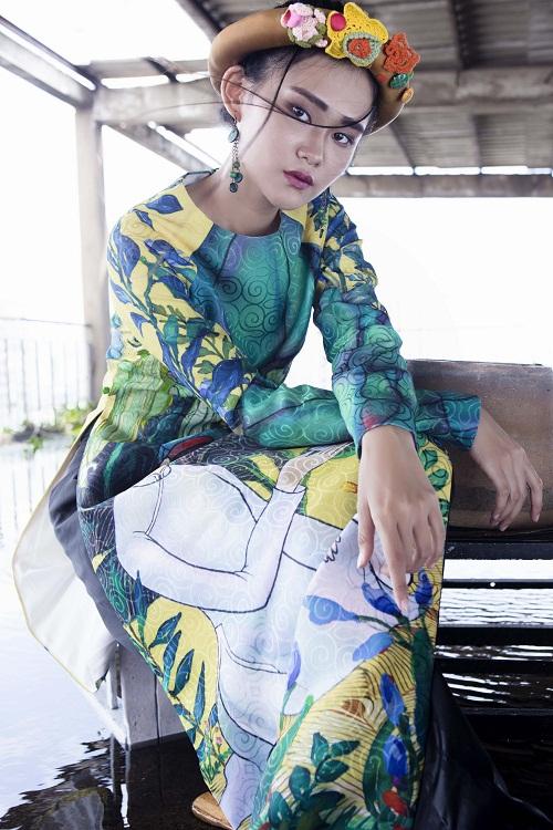 Thiếu nữ Việt e ấp trong tà áo dài cách tân - 3