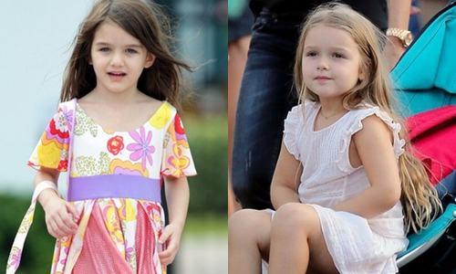 Cuộc sống trái ngược của con gái Beckham và Tom Cruise - 1