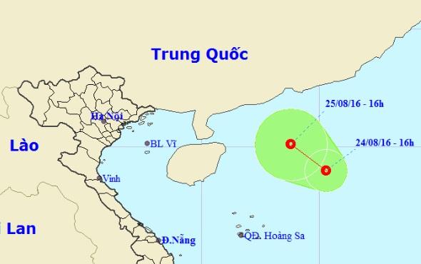 Xuất hiện áp thấp nhiệt đới mới trên Biển Đông - 1
