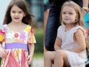 Cuộc sống trái ngược của con gái Beckham và Tom Cruise