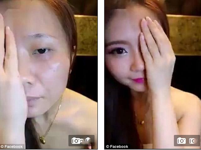 Choáng váng vì mặt thật của cô nàng Hàn Quốc xinh đẹp - 1