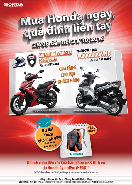 """Rinh quà cùng chương trình ưu đãi """"khủng"""" của Honda Việt Nam - 3"""