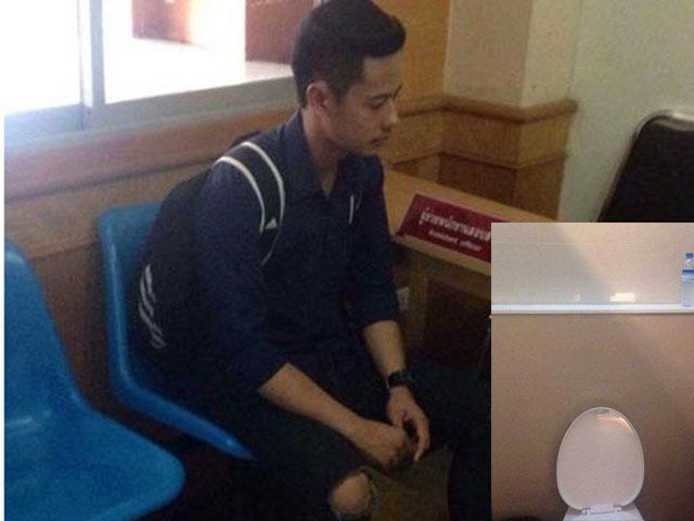 Thái Lan: Trai đẹp bị bắt vì rình gái xinh trong toilet - 1