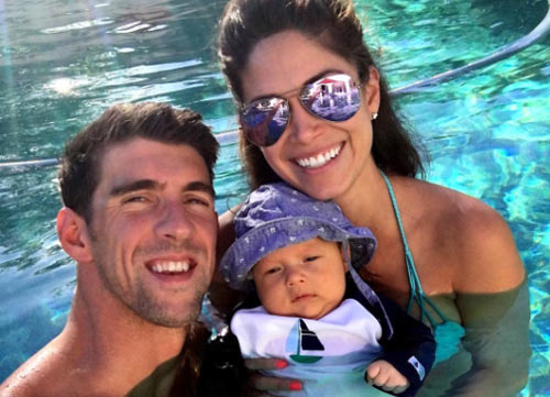 Mỹ mãn Michael Phelps: Vợ đẹp, con khôn và nhà 50 tỷ - 3