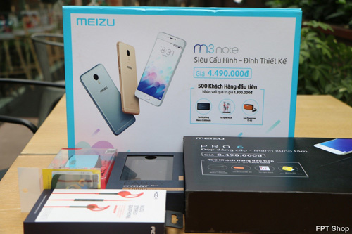 Bộ 3 Meizu M3 Note, PRO 6 và M3s được bán tại FPT Shop với giá chỉ từ 3 triệu đồng - 2