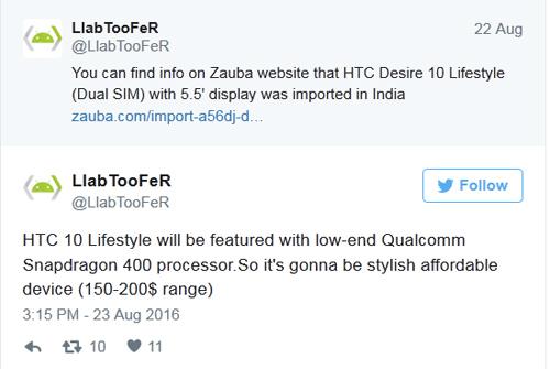 HTC Desire 10 Lifetyle giá rẻ sắp ra mắt - 2