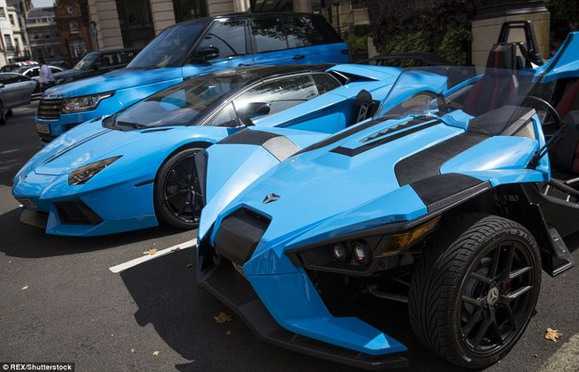 """Tỉ phú Ả Rập trưng dàn siêu xe màu """"độc"""" ở London - 2"""