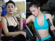 Bỏng mắt ngắm Hương Giang, Lâm Chi Khanh tập gym