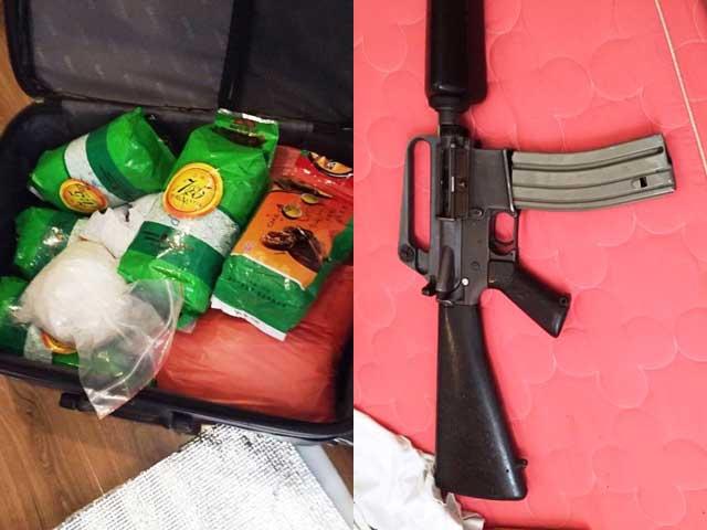 Hơn 1 yến ma túy đá được bảo vệ bằng súng - 2